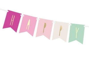 Baner Napis Happy Birthday 140 cm
